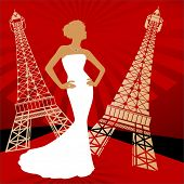 stock photo of snob  - paris runway fashion - JPG