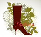Fashion -boot with design elements