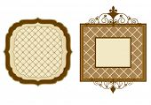 patterned frames