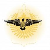 eagle with laural leaves and crest