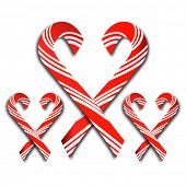 candy canes shape of heart esp10