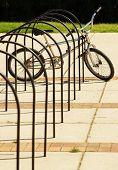 Bike In Bicycle Rack