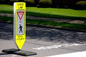 Pedestrian Yield Sign
