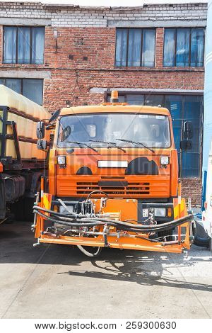 Kamaz Truck Stands In The