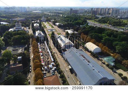 Aerial View Of Kiev Park