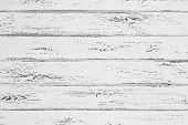 Vintage Whitewash Painted Rustic Old Wooden Horizontal Planks Wall Textured Background. Faded Natura poster