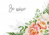 Vector Wedding Invite, Invitation, Greeting Card Design. Floral, Watercolor Style Bouquet With Garde poster
