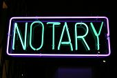 Neon Sign series  notary