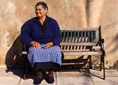 Old Lady In A Greek Village