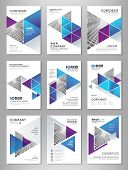 Blue Abstract Presentation Slide Templates. Infographic Elements Template  Set For Web, Print, Annua poster