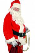 Santa Claus Isolated on White Room for your text