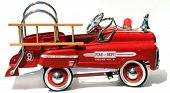 generic childs metal pedal car firetruck