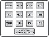 Metallic Web Concept Buttons