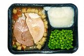 picture of frozen tv dinner  - Classic Turkey and Stuffing  - JPG