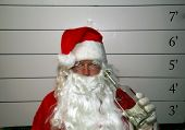 Bad Santa Santa Claus has been a bad bad boy this year and was arrested, and had his mugshot taken D