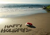 foto of happy holidays  - the words  - JPG