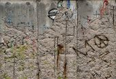 Close up of the Berlin Wall in Berlin, Germany