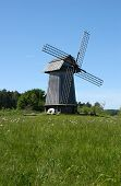 Old windmill in Mikhailovskoe, a family estate of the famous Russian poet Alexander Pushkin in the P