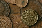 Old coins of the United Kingdom Texture