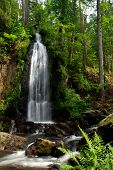 Waterfall in the forest with a long exposure