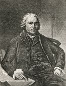 Samuel Adams (1722-1803), statesman and one of the founding fathers of United States. Engraved image