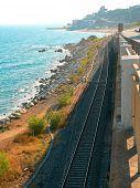 Railway by sea in Spain
