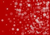 Snow Flakes Falling Macro Vector Illustration, Christmas Snowflakes Confetti Falling Scatter Card. W poster
