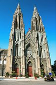 St. Philomena's Cathedral,  built between 1933-1941 one of the largest in Indiia, Mysore, Karnataka