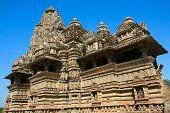 Vamana templo Brahma templo templo Javari, Khajuraho, Madhya Pradesh, Índia.
