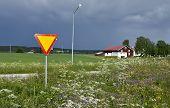 Give way at a country road!