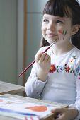 Menina de pintura