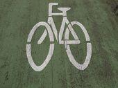 Fahrrad-Spur-Zeichen