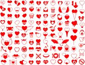 Huge collection of heart icons