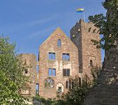 Sunny Illuminated Wertheim Castle Detail