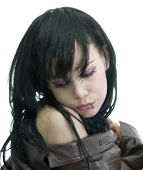 stock photo of emo  - young and beauty emo girl  - JPG