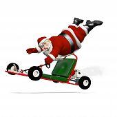 Santa außer Kontrolle geratenen Go-Kart