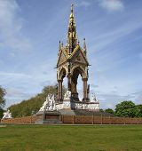stock photo of kensington  - Albert Memorial in Kensington gardens - JPG