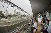 People Watching Singapore Grand Prix