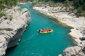 rafting in the green canyon, Alanya, Turkey