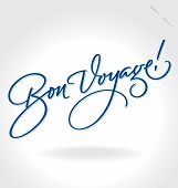 Letras (vector) de la mano de 'Bon Voyage'