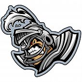 American Football Knight Mascot Wearing Helmet With Armour Vector Illustration