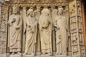Sculpture. Fragment. Notre-Dame-de-Paris.
