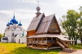 Russian Wooden Church. Suzdal.