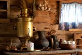 Country Still Life with a Samovar.