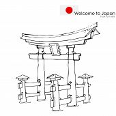 Miyajima monument of Japan