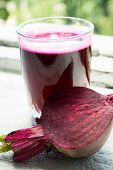 Closeup of Fresh Red Beet Juice