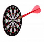 Big Arrow On Dart Board