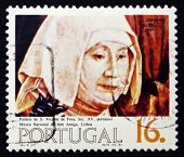 Postage Stamp Portugal 1984 Nun, Painting, 15Th Century