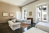 pic of genova  - beautiful hotel room in a historic building - JPG