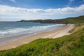 Whitesands Bay beach St Brides West Wales UK Pembrokeshire Coast